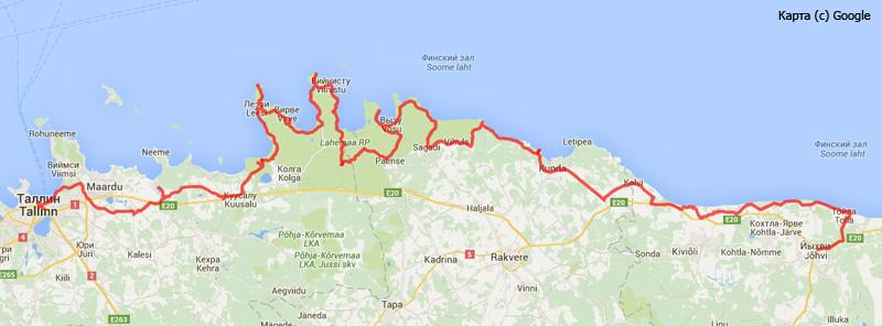 Обзорная карта поездки